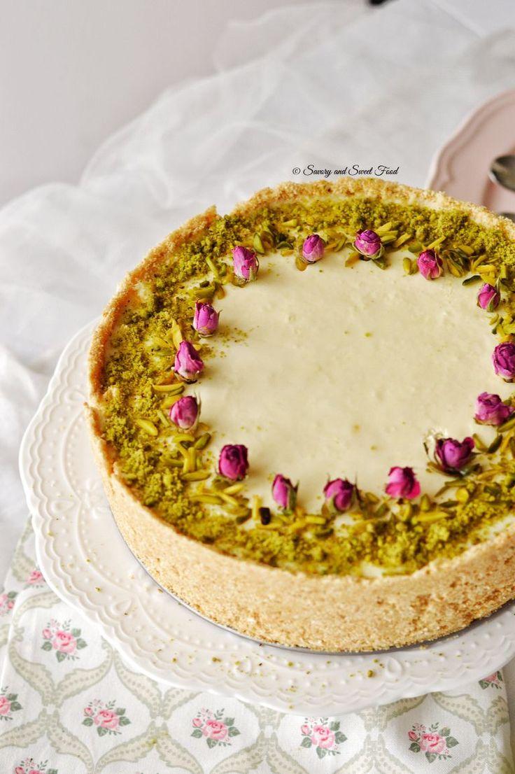 Gulab Jamun Cheesecake - Indian cheesecake made with paneer, hung yoghurt and gulab jamun.