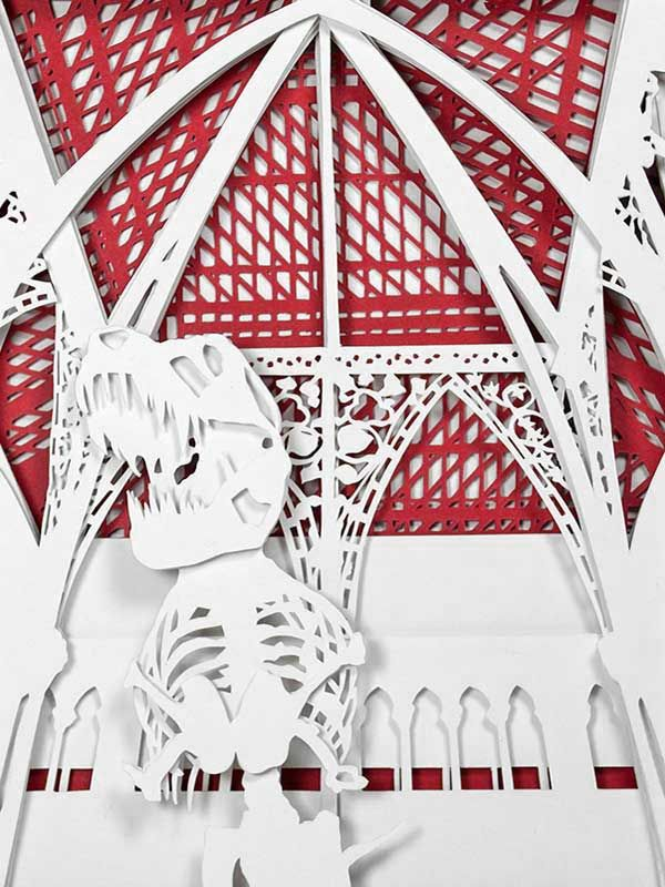 Junction Art Gallery - Kate Hipkiss 'Oxford Natural History Museum' papercut