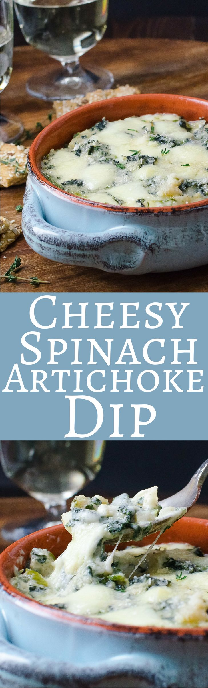 If you're looking for Super Bowl party ideas, this recipe for spinach dip with artichokes and gooey, melted cheese delivers.