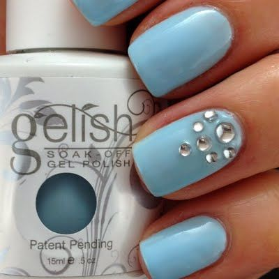 Best 25 fancy nail art ideas on pinterest fancy nails designs this soft blue nail polish topped with diamond rhinestones spell glamour diy this fancy nail prinsesfo Choice Image