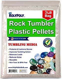 Plastic Poly Pellets Rock Tumbling Media (3 LBS) for Rock Tumbler, Stone Tumbler, Rock Polisher, Filler Beads, Rock Tumbler Supplies in Heavy Duty Resealable Bag