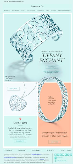 Tiffany & Co. email design 2014