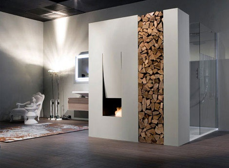 136 Best Bathroom Fireplaces Images On Pinterest | Dream Bathrooms, Room  And Architecture