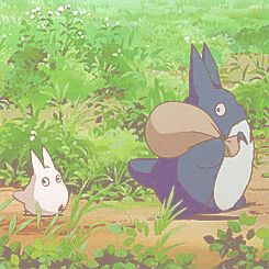 My neighbor Totoro, I saw half the movie and need to finish the rest! I think the Totoros are adorable!