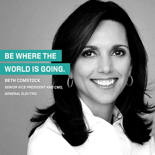 Our first #ThoughtOfTheWeek for 2015 comes from Beth Comstock, senior vice president and CMO of General Electric.