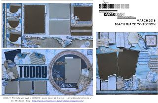 SCISSOR SISTERS KAISER KIT CLUB - March 2018  Beach Shack Collection. Layouts by Michelle van Wyk