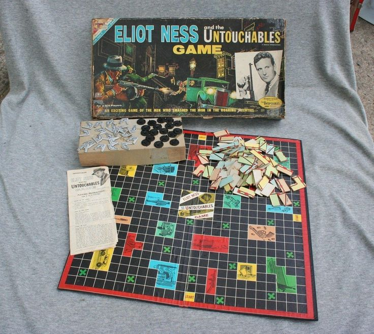 Elliot Ness Untouchables Game Transogram 1961 Chicago Ganster Prohibition Vtg