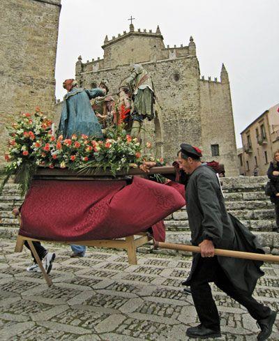 Processione dei Misteri on Good Friday