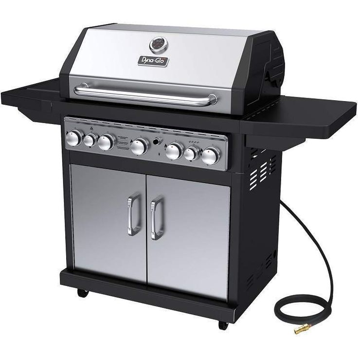 Grill Dyna Glo Outdoor 5 Burner Natural Gas New Bbq Grills Burner Rotisserie #DynaGlo