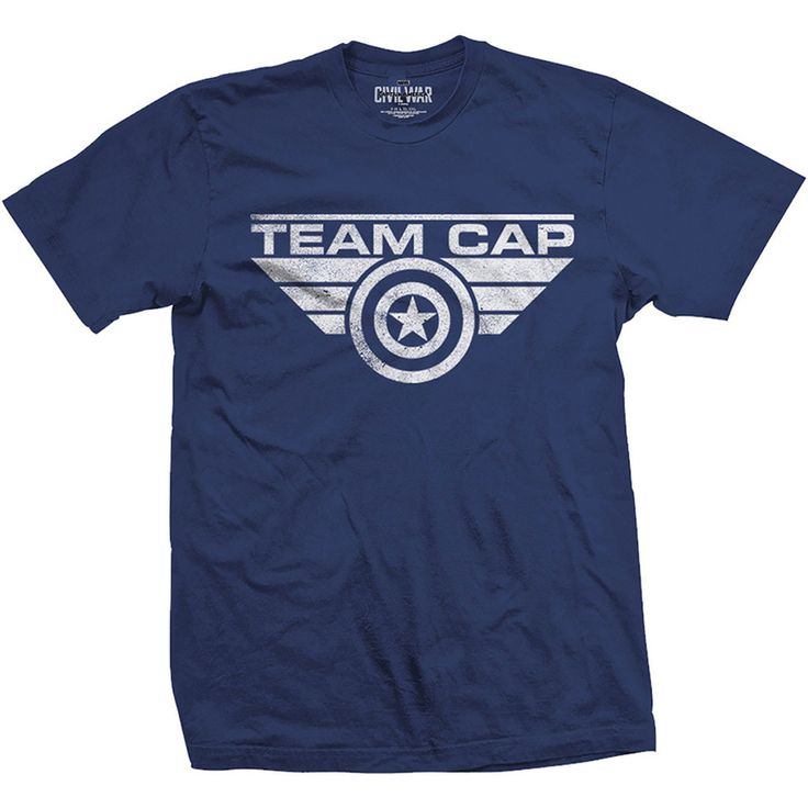 Captain America Civil War TEAM Cap TShirts
