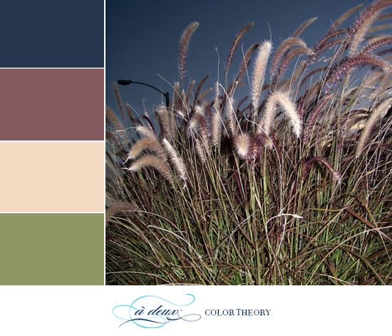 Dusty purple, dark blue, and sage green are working so well together to make a late summer or early fall color scheme for your wedding.    Do you like muted tones like these? Lately I've been gravitating towards them because they are very versatile and work well together in many combinations.