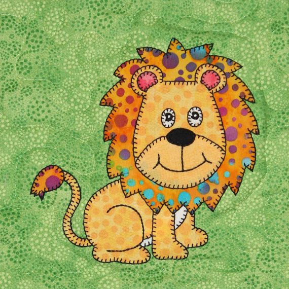 Lion PDF applique pattern African safari animal by MsPDesignsUSA