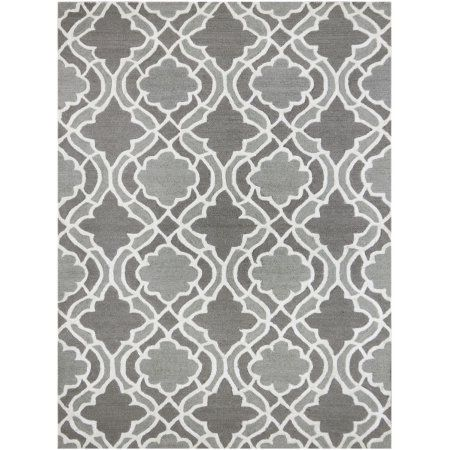 Glow Modern Design Hand-Tufted Rug 7'6 inchx9'6 inch, Gray