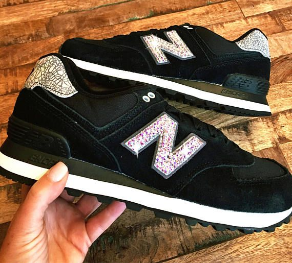 ... new arrival 7afc2 0b957 New Balance 574 Swarovski New Balance Bling New  Balance SOS Shiny objects ... 48d4763d4e