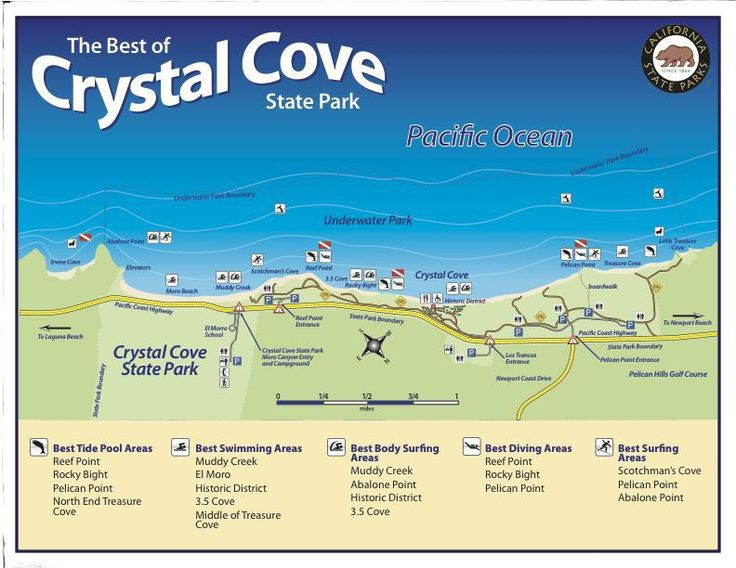Crystal Cove State Park Map California Los Angeles
