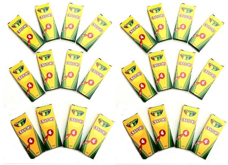 24 boxes crayola 4 ct crayon party favor pack davis s 1st