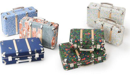 Mina Perhonen floral hard back suitcases