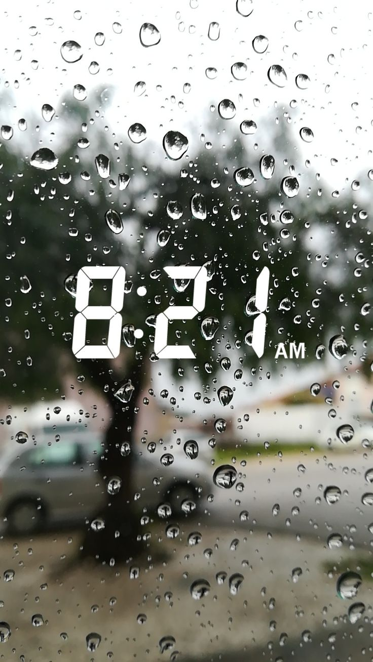 The picture shows that it is a rainy day outside w…