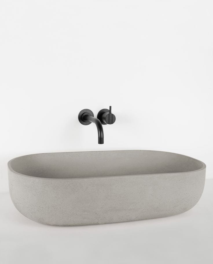 Rho By Kast Concrete Basins Is A Practical And Elegant Curved Sink With  Ample Inner Depth
