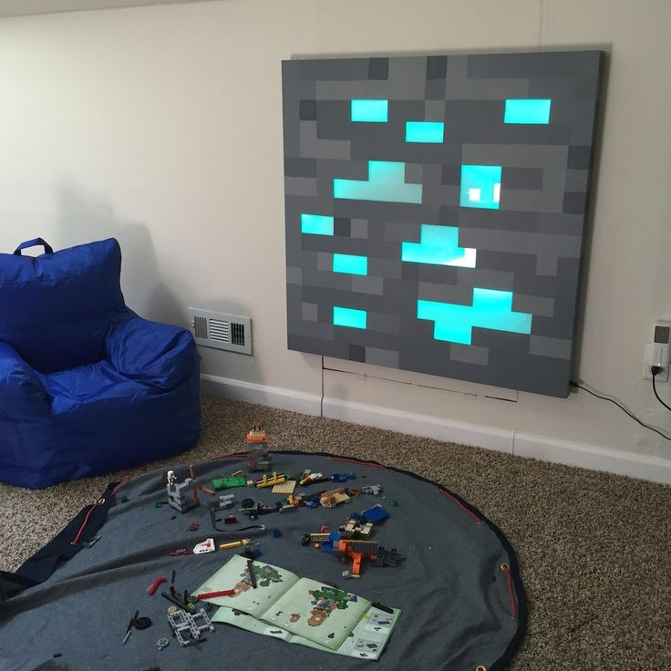 Life-Size Glowing Minecraft Block