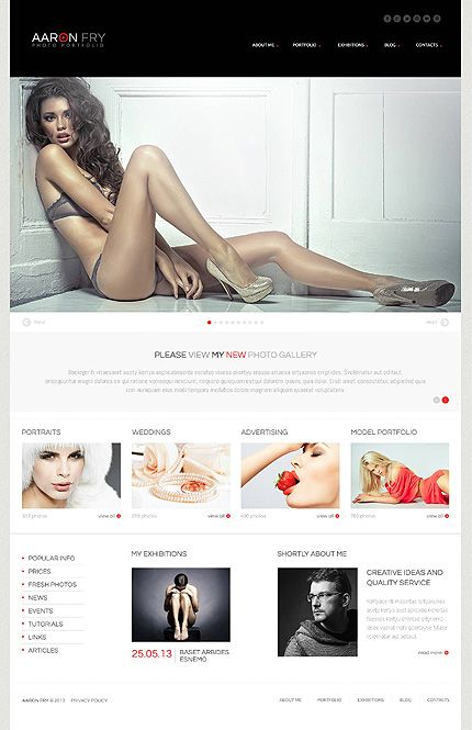 Photographer Portfolio WordPress Theme #photo #gallery #website http://www.templatemonster.com/wordpress-themes/45176.html?utm_source=pinterest&utm_medium=timeline&utm_campaign=photo