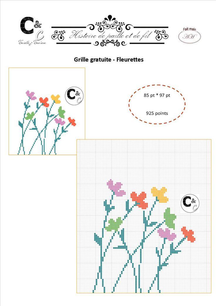 Grille gratuite - Fleurettes