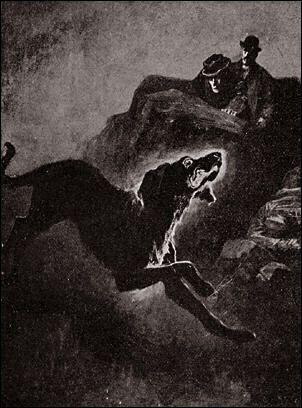 The Hound of the Baskervilles, illustration by Sydney Paget.