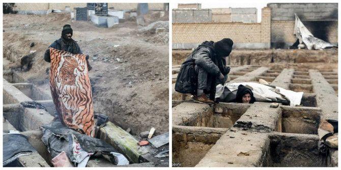 Εικόνες φρίκης: Άστεγοι κοιμούνται μέσα σε τάφους στο Ιράν