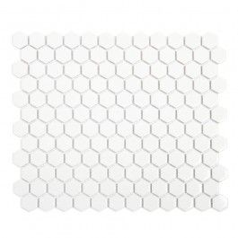 Honeycomb Gloss White Mosaic