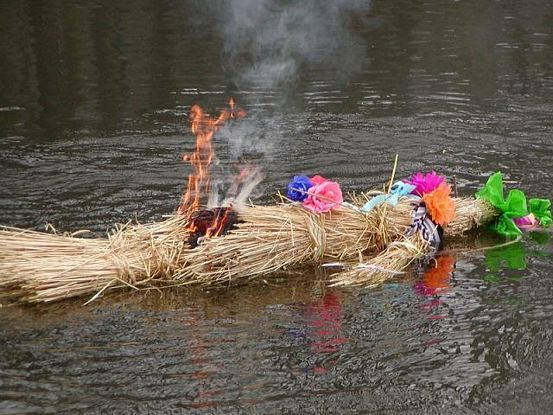 Polish traditions, 1st day of  spring- topienie Marzanny,