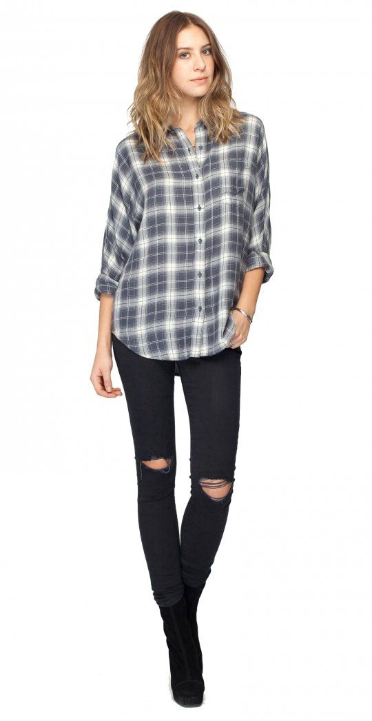 Wrangler Top-Ombre Plaid-front | Gentle Fawn
