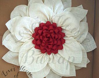 Arpillera guirnalda, guirnalda de la flor, decoración de la puerta, guirnalda de otoño, corona de dia de las madres, arpillera, verano guirnalda, guirnalda de primavera, guirnalda de la Navidad