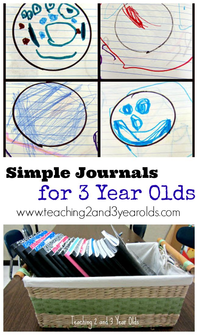 Wondering how to start a journal with a 3 year old? This post shares how we introduce simple journals and the tools we use. - Teaching 2 and 3 Year Olds