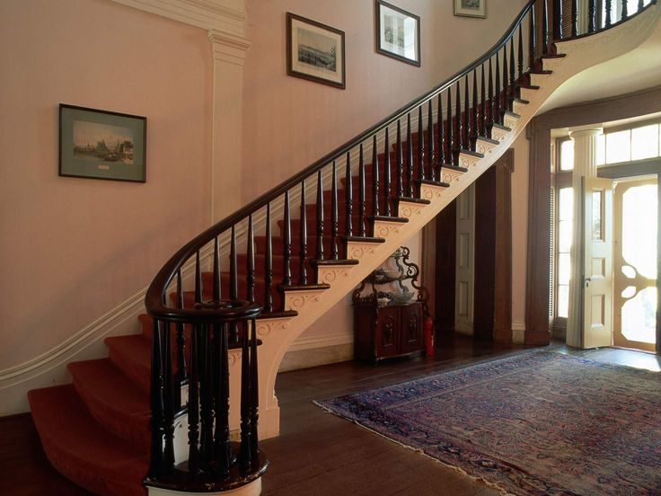 Wood Stair Railings Interior Design .