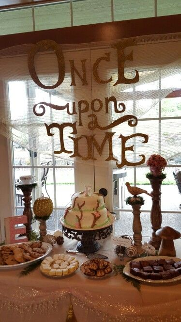 Pink and gold fairytale baby shower