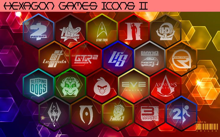 Hexagon Games Icons vol. 2 by xmilek.deviantart.com on @deviantART
