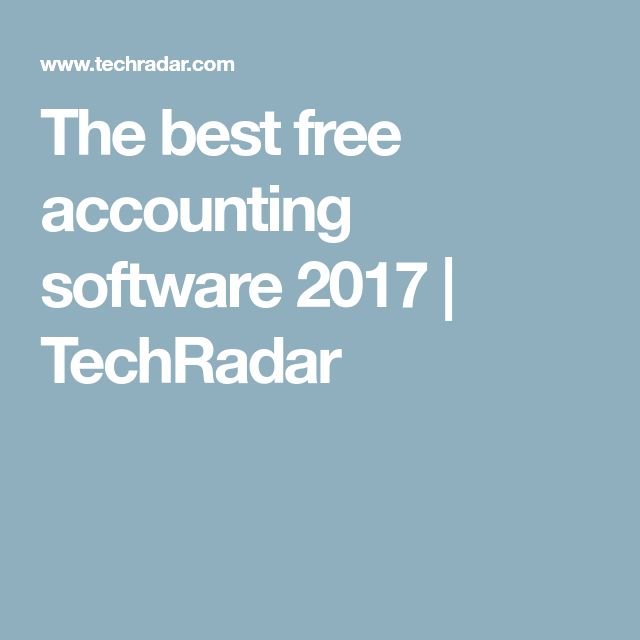 The best free accounting software 2017 | TechRadar