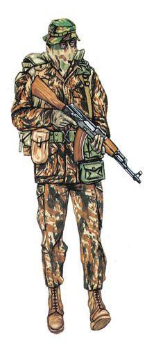 Capitán, 32 Batallón, sección de reconocimiento, 1983. Pin by Paolo Marzioli