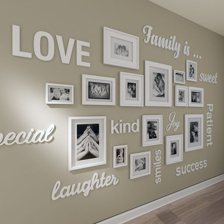 Gallery wall 3D quotes , gallery wall decor , gallery wall frames , gallery wall art set, gallery wall frames – SKU:GWAL