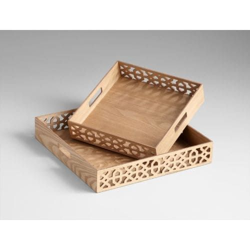 Cyan Design 5224 1775 Square Xoxo Trays Ash Veneer Wood