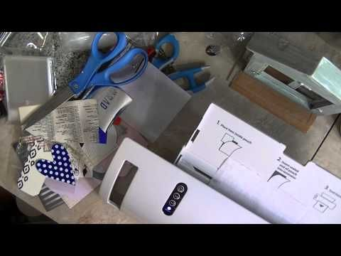 Anna Griffin Minc Machine and DIY Toner Paint for foiling - YouTube