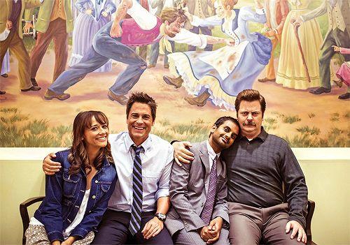 Parks and Recreation: Rashida Jones, Rob Lowe, Aziz Ansari, and the esteemable Nick Offerman