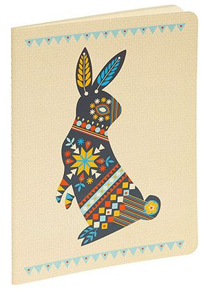 Dutch style graphic design bunny, card design
