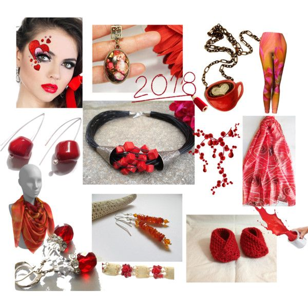 Coral Touch by anna-recycle on Polyvore featuring modern, rustic and vintage