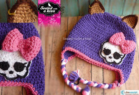 Monster High Beanie Monster High Crochet Hat by SWAKLovelyHandmade, $26.00