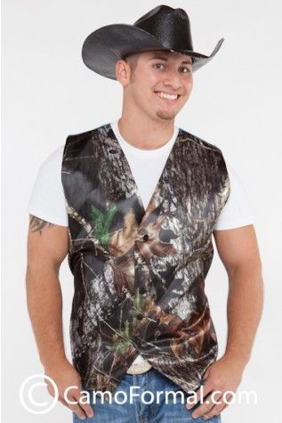 Men's Vest shown in Mossy Oak .... Available in MANY camo patterns/colors ... REALTREE !