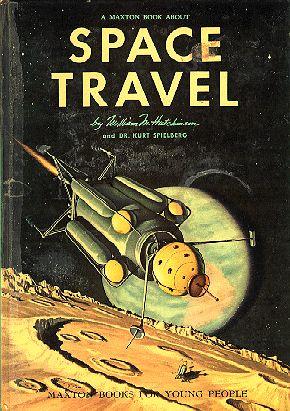 Retro-futuristic children's book illustrations - Space Travel (1958) via @Kevin & Robin -