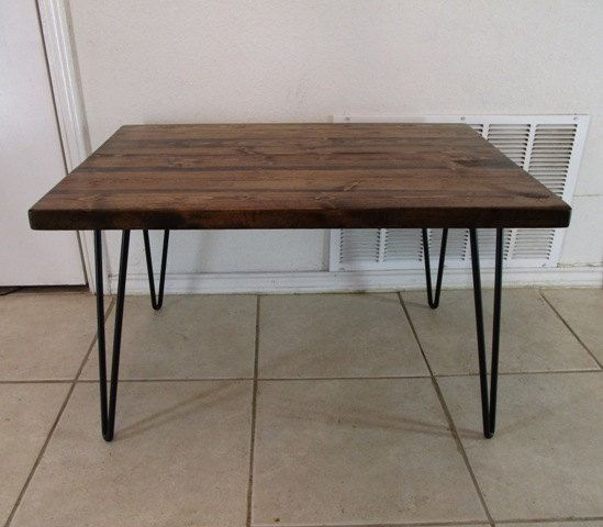 Montana coffee table made to order hairpin by Vintagesteelandwood, $170.00