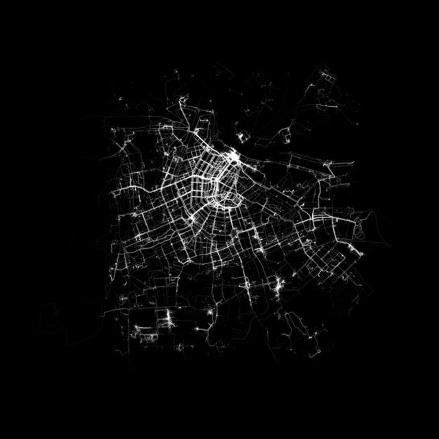 Real-time Human Activity in Amsterdam