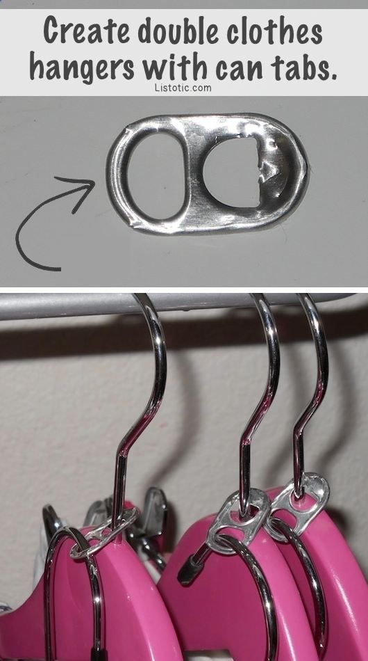 31 Clothing Tips Every Girl Should Know DIY Double Clothes Hanger